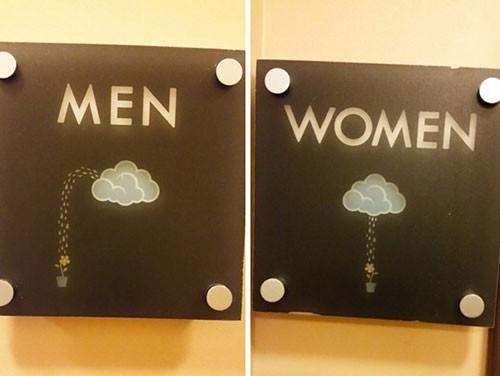 搞怪洗手間科室牌