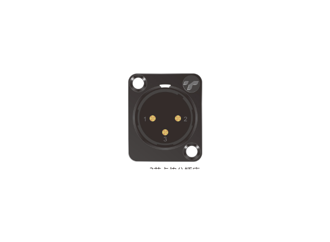 3芯卡侬公插座 TP001BG-3N