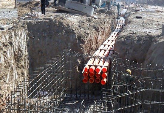灵山区东南开发区工业园MPP管安装