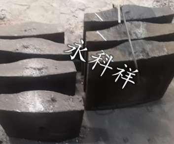 球磨机筒体进料端加厚高锰钢衬板