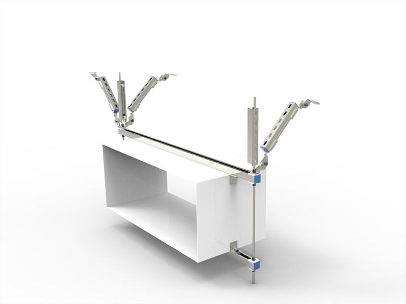 矩形风管双向抗震支吊架