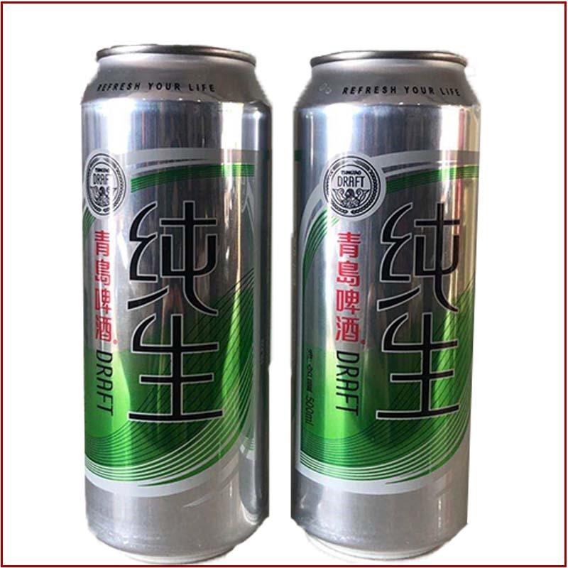纯生青岛啤酒