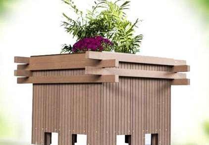 塑木花箱美化我们的环境