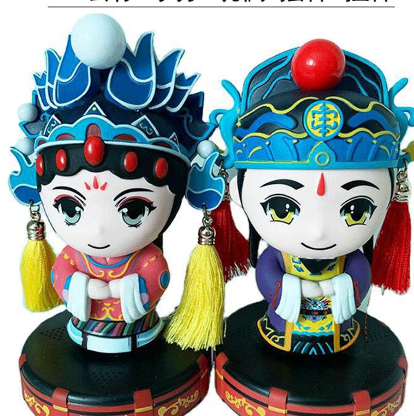 搪胶娃娃公仔定制 注塑玩具古装男戏娃厂家来图来样人物定做