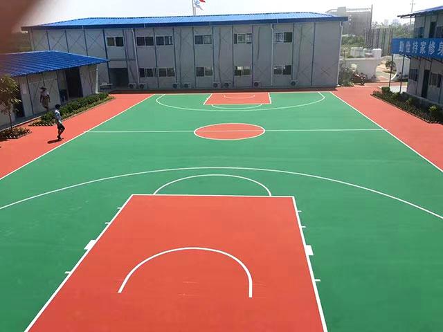 硅pu篮球场地面