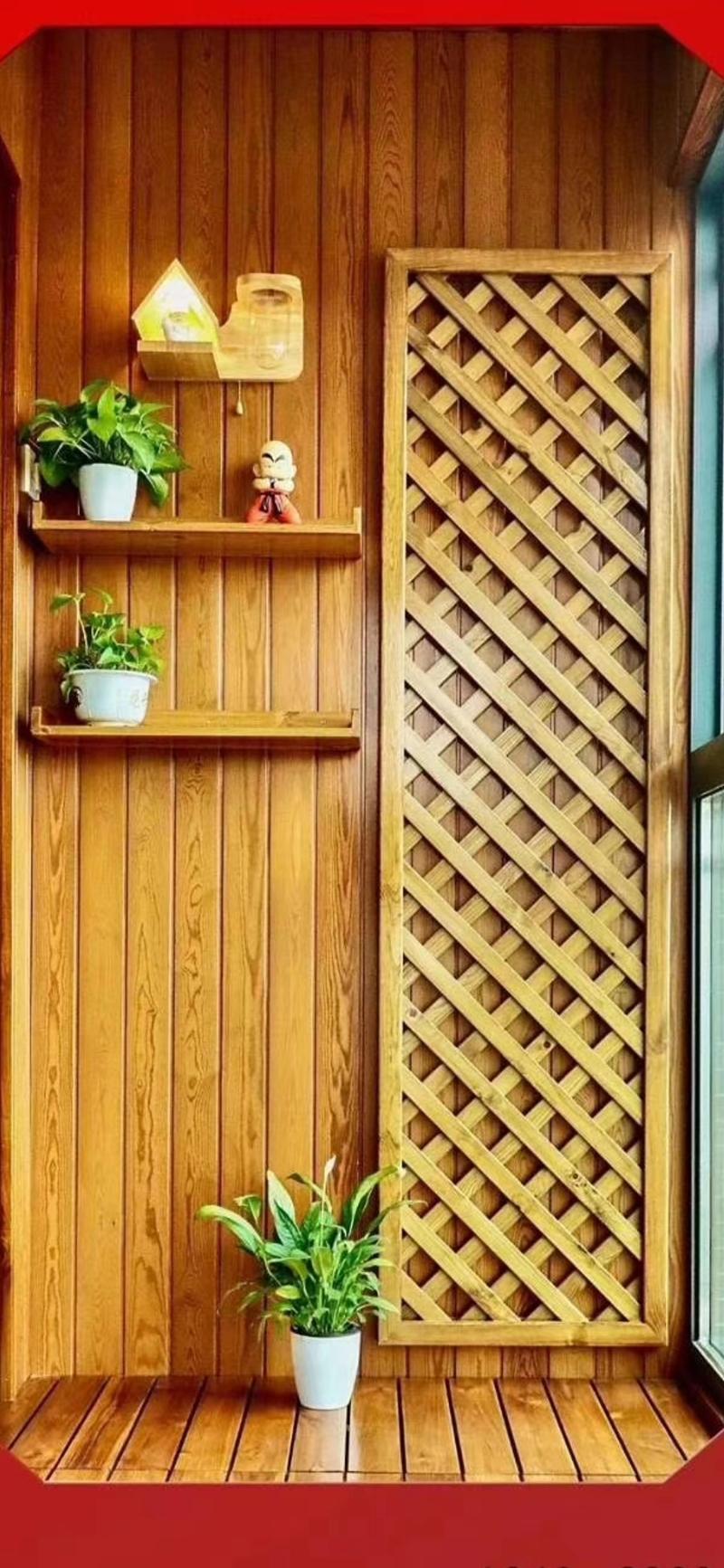 复古式阳台防腐木装修