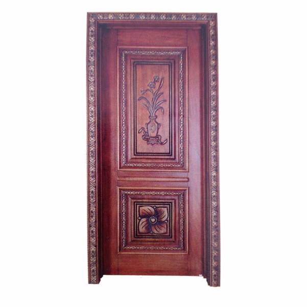欧式室内深色实木门