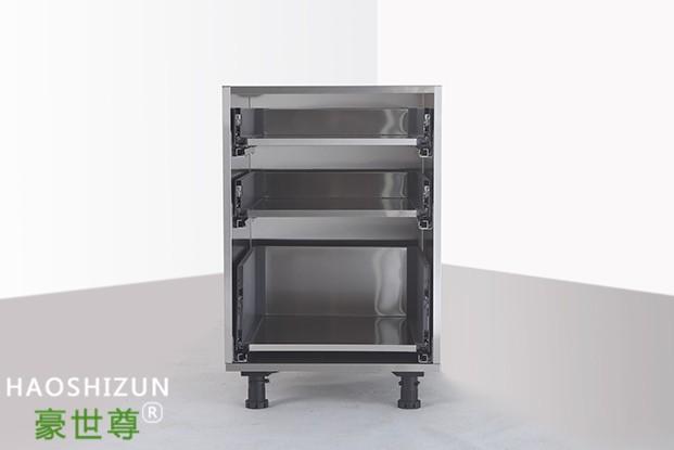 不锈钢三抽地柜