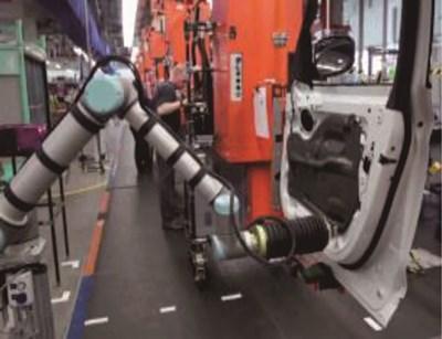汽车车门防水膜滚压工序