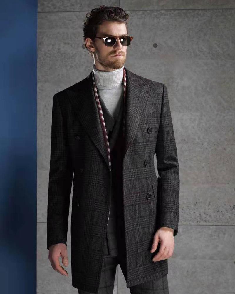 灰色亲王格切斯菲尔德大衣