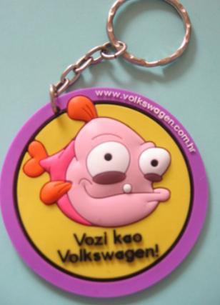为什么PVC软胶钥匙扣适合做促销礼品