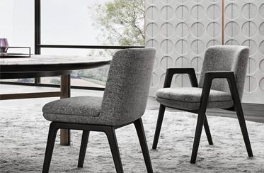 【建材批发】米兰展北欧现代简约风格创意布艺椅