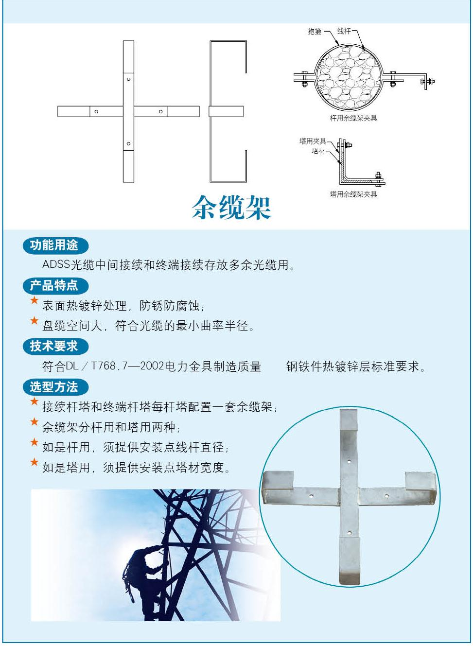ADSS cable hardware manufacturing