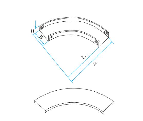 槽式圆弧型水平弯通