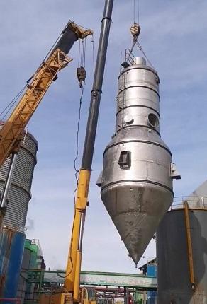 20t/h硫酸钠MVR蒸发器安装顺利进行