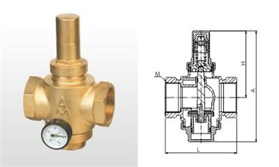 埃美柯减压阀-Y13X-16T 黄铜活塞式可调减压阀