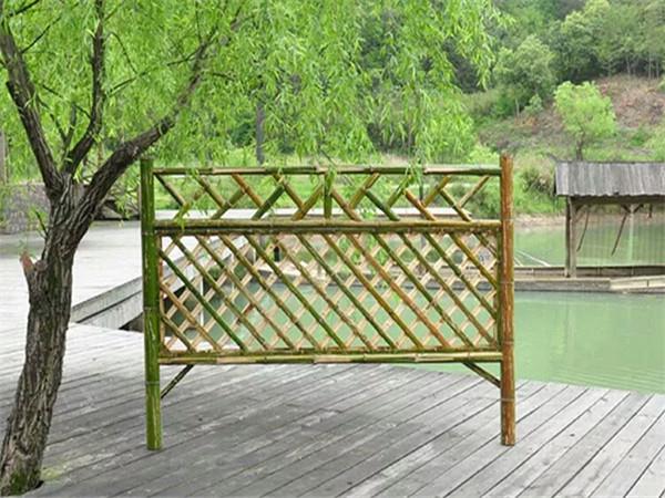 竹籬笆圍欄制作