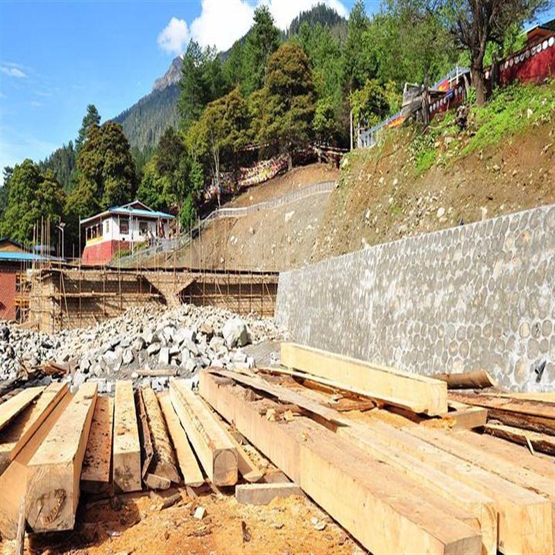 木方施工现场
