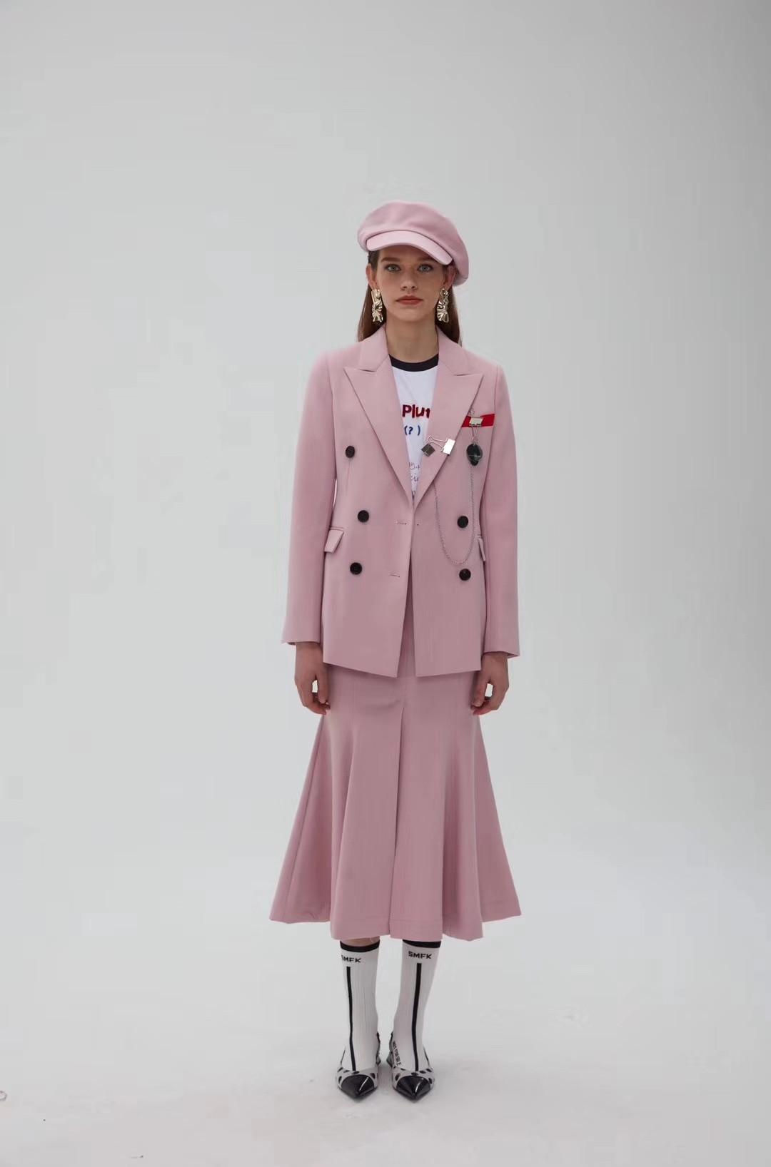 春秋款法国小众中长裙套装女装私人订制