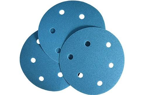 5寸6孔蓝色背绒圆盘-氧化铝-100#
