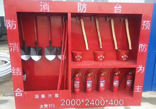 Fire equipment storage cabinet