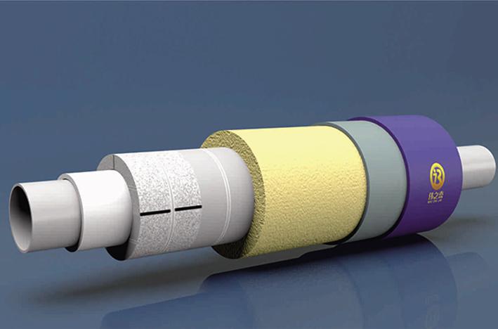 内滑动式预制直埋蒸汽保温管