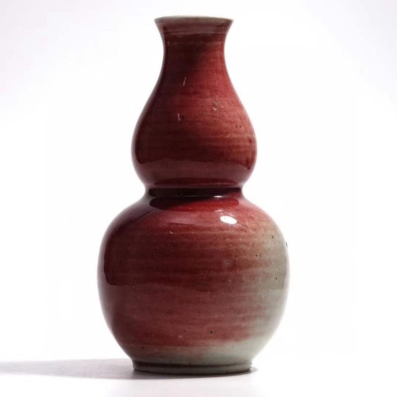 窑变红釉葫芦瓶