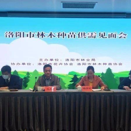 洛阳市林业局组织召开林木种苗供需见面会