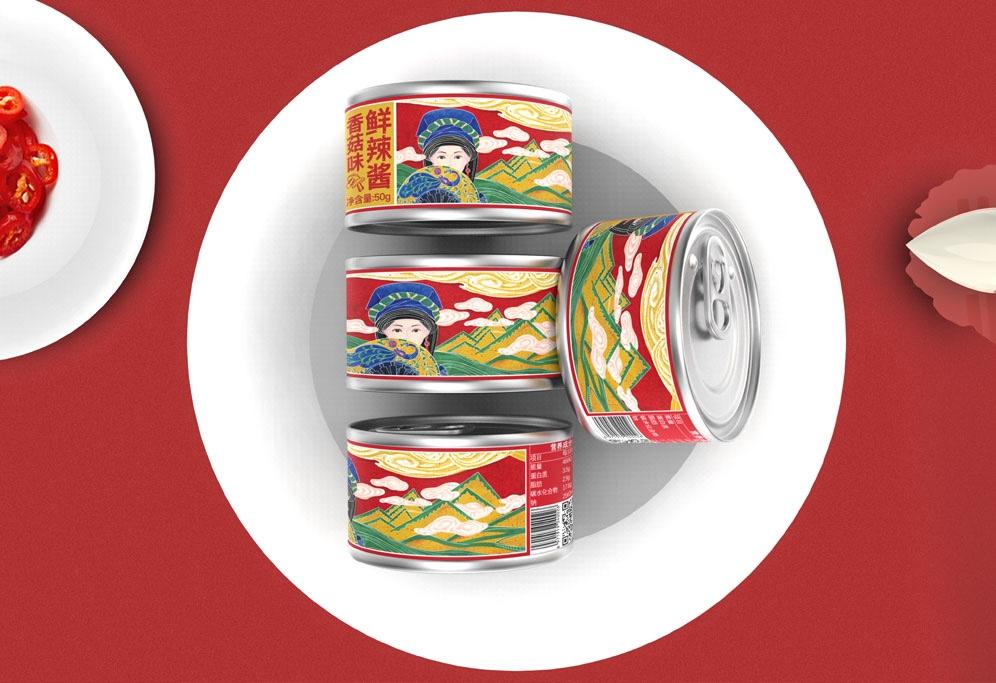 益农辣椒酱包装设计