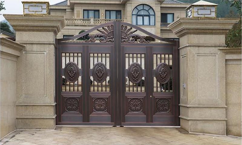 豪华庭院铜门