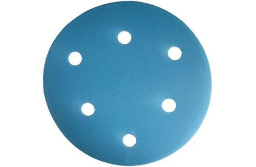 5寸6孔蓝色背绒圆盘-氧化铝-500#