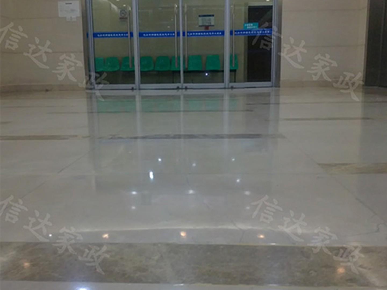 肿瘤医院地面结晶