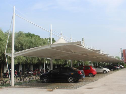 西宁膜结构车棚工程案例
