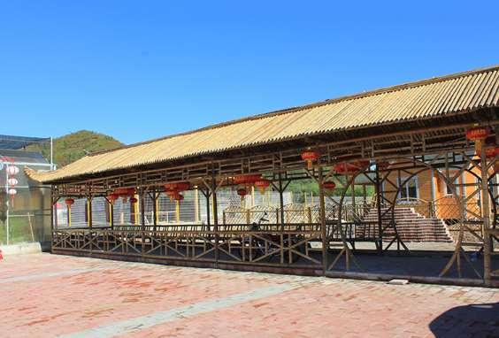 竹长廊营造简约典雅之美简约典雅之美