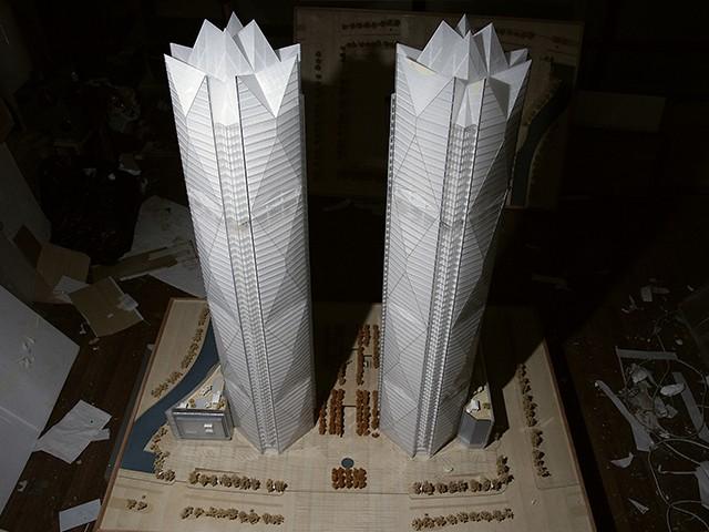 写字楼酒店模型