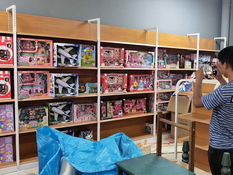 玩具店鋼木展柜