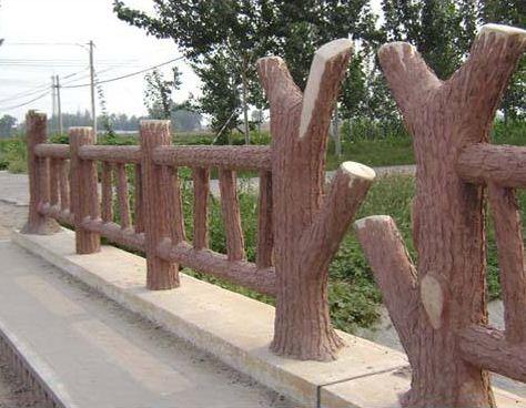 仿木护栏上的纹理如何制作