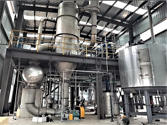 垃圾渗滤液MVR蒸发器安装接近完工