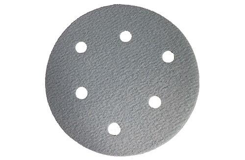5寸6孔蓝色背绒圆盘-氧化铝-600#