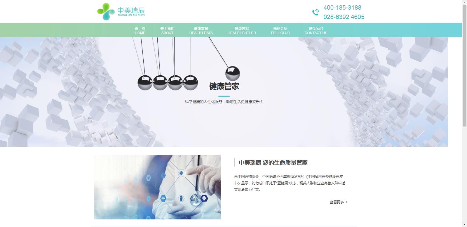 成都中美瑞辰健康管理有限公司网站建设项目
