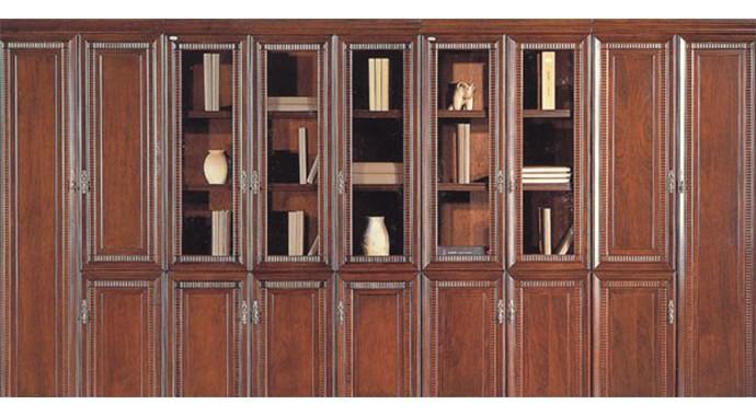 原木半开放书柜