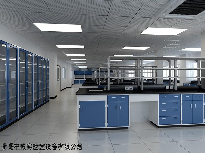 实验台-蓝白设计