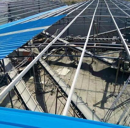 青海彩钢钢结构厂房搭建案例