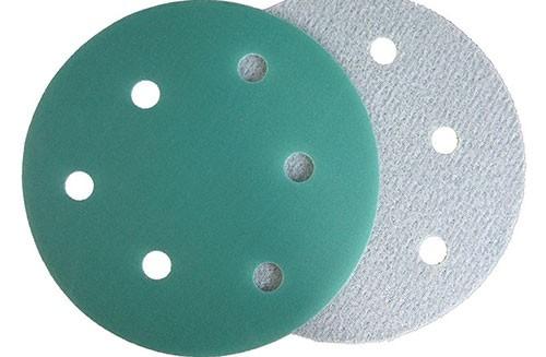 5寸6孔绿色背绒圆盘-氧化铝-360#
