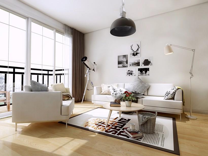 老房换新65㎡二手房,三口之家如诗一般的简约风格生活