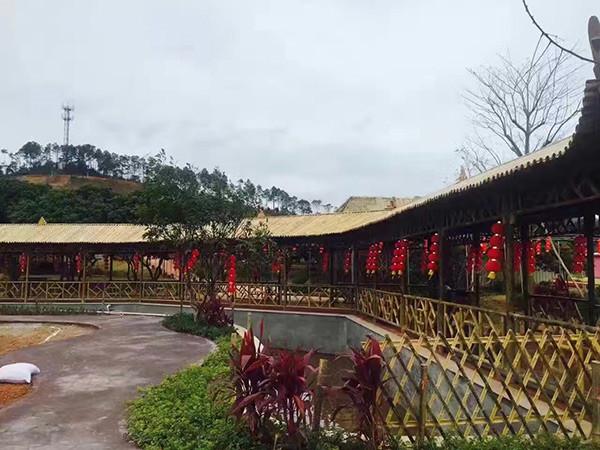 竹长廊建筑