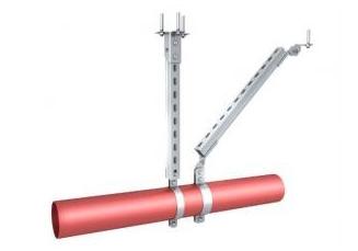 单根管道侧向刚性抗震支吊架