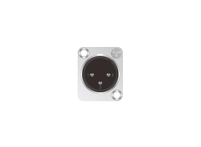 3芯卡侬公插座 TP001-3N