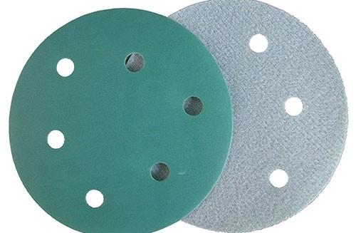 5寸6孔绿色背绒圆盘-氧化铝-280#
