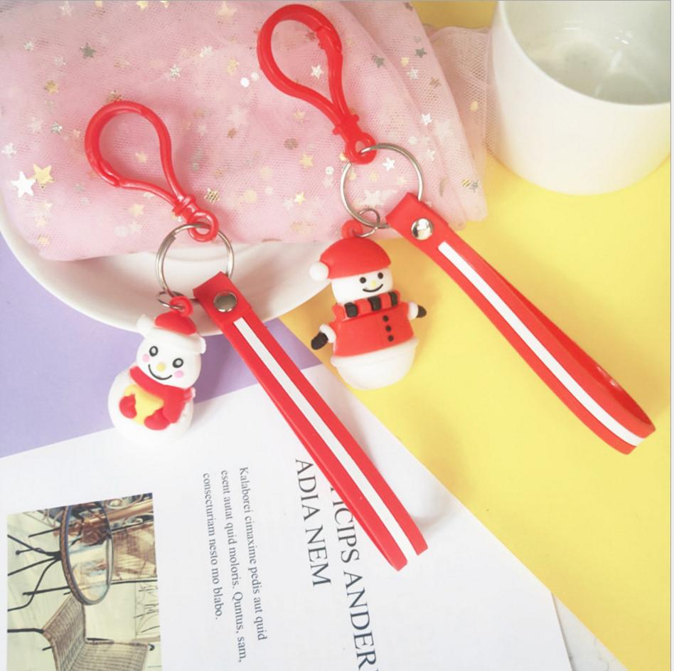 热卖PVC软胶钥匙扣节日圣诞树老人挂件女包包挂件服饰配件钥匙扣